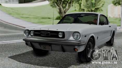 Ford Mustang Fastback 289 1966 pour GTA San Andreas