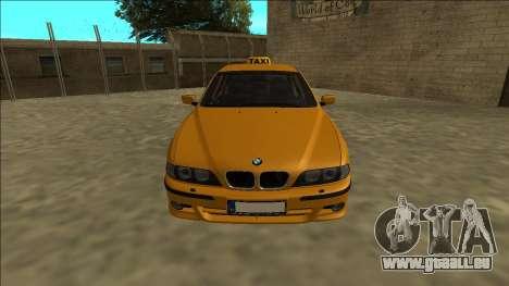 1999 BMW 530d E39 Taxi pour GTA San Andreas vue de droite