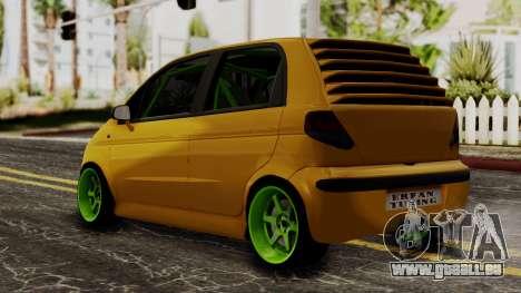 Daewoo Matiz Tuning pour GTA San Andreas laissé vue