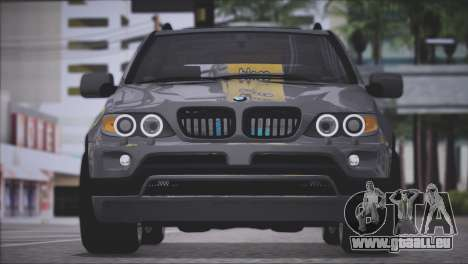 BMW X5 E53 pour GTA San Andreas vue arrière