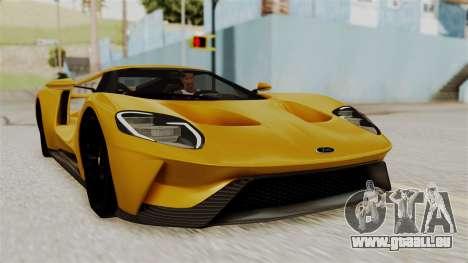 Ford GT 2016 Black Revel für GTA San Andreas