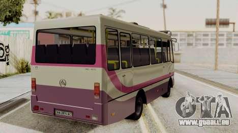 BAZ A079.07 standard pour GTA San Andreas laissé vue