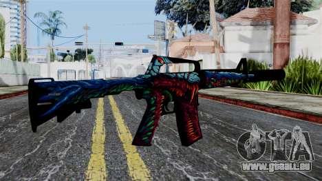 M4A1-S Hyper Beast pour GTA San Andreas deuxième écran