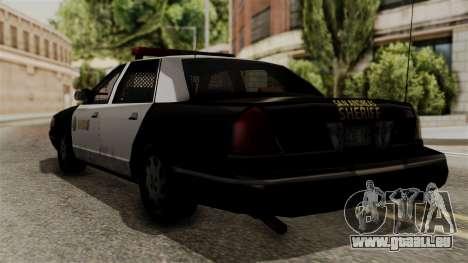 Ford Crown Victoria LP v2 Sheriff pour GTA San Andreas laissé vue