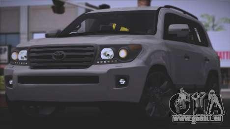 Toyota Land Cruiser 200 für GTA San Andreas Seitenansicht