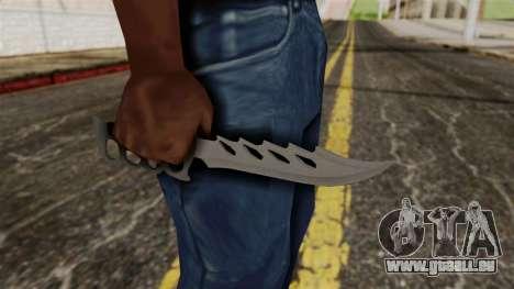Le couteau pour GTA San Andreas troisième écran