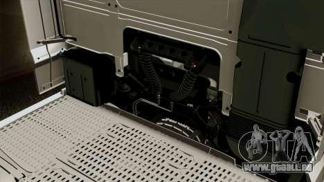 DAF XF Euro 6 SSC pour GTA San Andreas vue intérieure