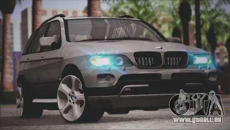 BMW X5 E53 pour GTA San Andreas laissé vue