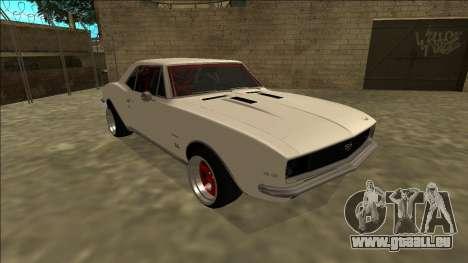 Chevrolet Camaro SS Drift pour GTA San Andreas laissé vue