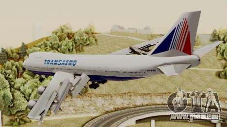 Boeing 747 TransAero pour GTA San Andreas laissé vue
