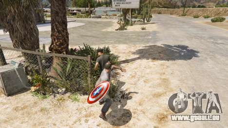 GTA 5 Schild Captain America vierten Screenshot