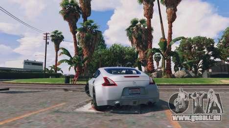 GTA 5 Nissan 370z arrière vue latérale gauche