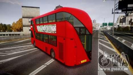 Wrightbus New Routemaster Metroline pour GTA 4 Vue arrière de la gauche
