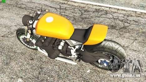 GTA 5 Honda CB 1800 Cafe Racer Paint vue arrière