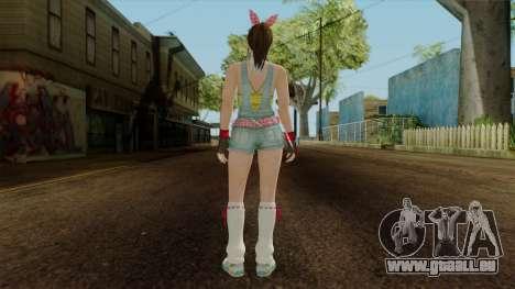Dead Or Alive 5 Hitomi Overalls für GTA San Andreas dritten Screenshot