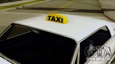 Taxi-Savanna pour GTA San Andreas vue de droite