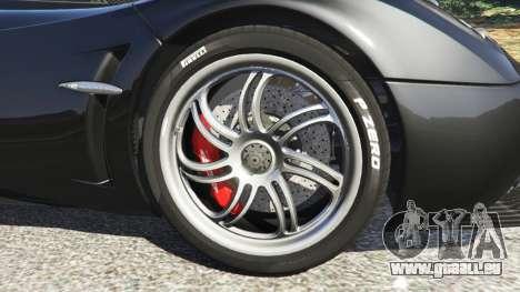 GTA 5 Pagani Huayra arrière droit vue de côté