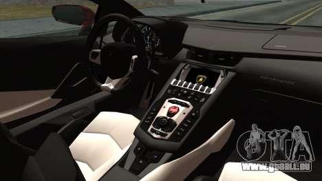 Lamborghini Aventador LP-700 Batik pour GTA San Andreas vue de droite