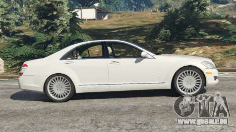 GTA 5 Mercedes-Benz S550 W221 v0.5 [Alpha] linke Seitenansicht