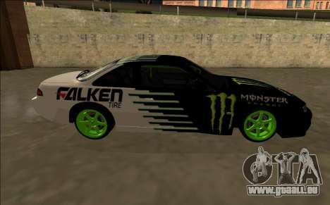 Nissan 200SX Drift Monster Energy Falken pour GTA San Andreas vue intérieure