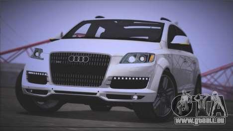 Audi Q7 2008 pour GTA San Andreas sur la vue arrière gauche