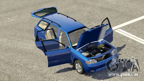 GTA 5 Daewoo Nubira Wagon je NOUS 1999 - version FINAL arrière droit vue de côté