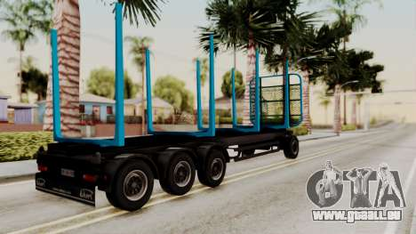 Wood Transport Trailer from ETS 2 für GTA San Andreas linke Ansicht