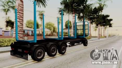 Wood Transport Trailer from ETS 2 für GTA San Andreas linke Ansicht