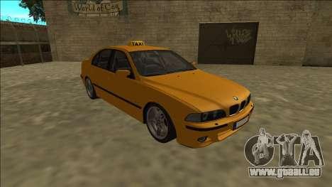 1999 BMW 530d E39 Taxi pour GTA San Andreas vue arrière