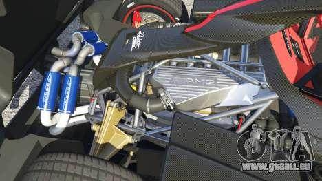 GTA 5 Pagani Zonda Cinque Roadster rechte Seitenansicht