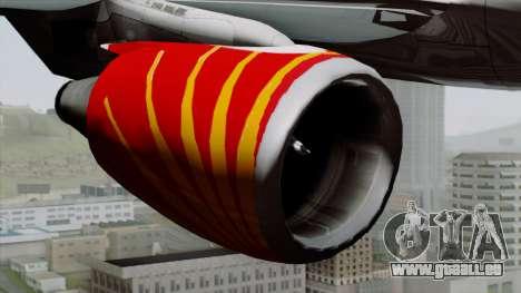 Airbus A320-200 Air India pour GTA San Andreas vue de droite