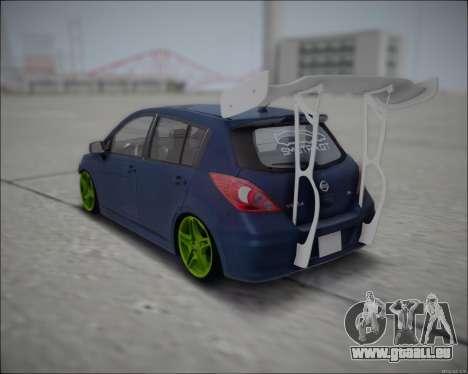 Nissan Tiida Drift Korch pour GTA San Andreas sur la vue arrière gauche