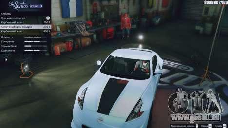 Nissan 370z pour GTA 5