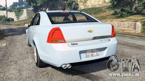 GTA 5 Chevrolet Caprice LS 2014 arrière vue latérale gauche