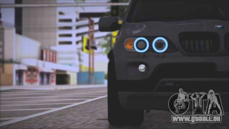 BMW X5 E53 pour GTA San Andreas salon