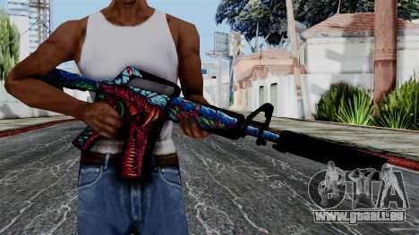 M4A1-S Hyper Beast pour GTA San Andreas troisième écran