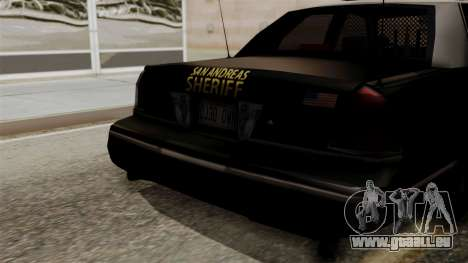 Ford Crown Victoria LP v2 Sheriff pour GTA San Andreas vue de droite