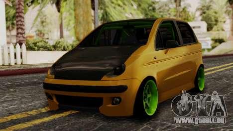 Daewoo Matiz Tuning pour GTA San Andreas