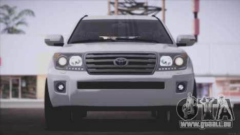 Toyota Land Cruiser 200 pour GTA San Andreas vue intérieure