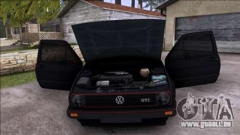 Volkswagen Golf Mk2 Line für GTA San Andreas obere Ansicht