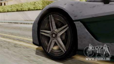 GTA 5 Progen T20 SA Style pour GTA San Andreas sur la vue arrière gauche