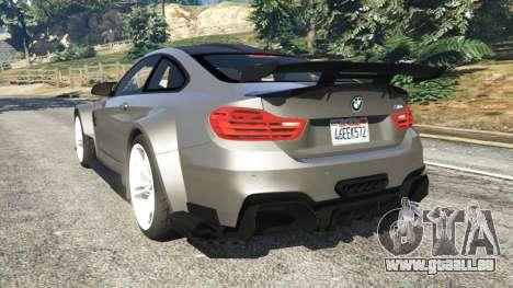 GTA 5 BMW M4 F82 WideBody arrière vue latérale gauche