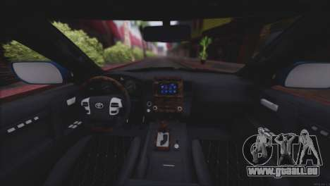 Toyota Land Cruiser 200 für GTA San Andreas Innen