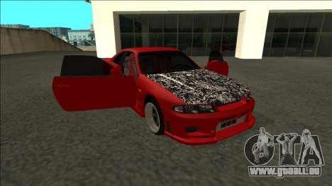 Nissan Skyline R33 Fairlady für GTA San Andreas Seitenansicht
