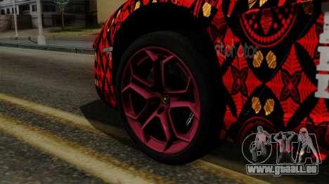 Lamborghini Aventador LP-700 Batik pour GTA San Andreas sur la vue arrière gauche