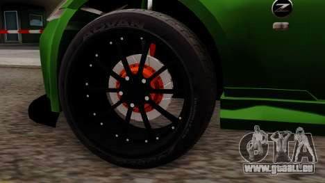 Nissan 350Z pour GTA San Andreas sur la vue arrière gauche
