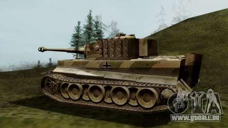 Panzerkampfwagen VI Ausf. E Tiger pour GTA San Andreas laissé vue