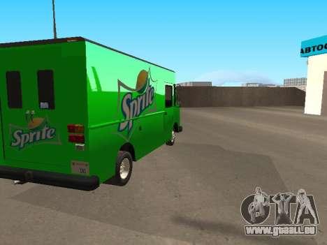 Boxville Sprite pour GTA San Andreas laissé vue