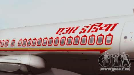Airbus A320-200 Air India für GTA San Andreas Rückansicht