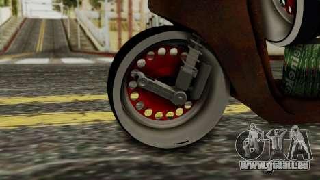 Zip SP Rat Style pour GTA San Andreas sur la vue arrière gauche